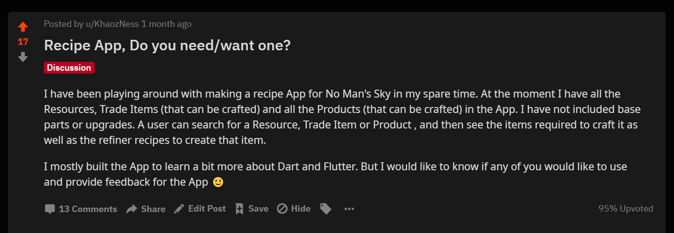 Asking Reddit if they want an app